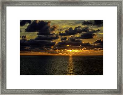 St. Pete Sunset Framed Print by Susie Weaver