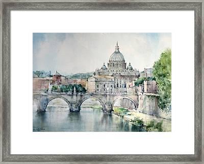 St. Peter Basilica - Rome - Italy Framed Print