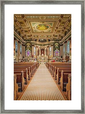 Framed Print featuring the photograph St Peter The Apostle Church Pa by Susan Candelario