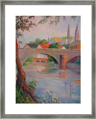 St. Peters And St. Augnion Churches Framed Print by Anne Dentler