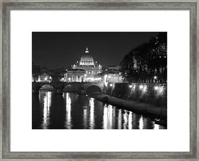 St. Peters At Night Framed Print by Donna Corless