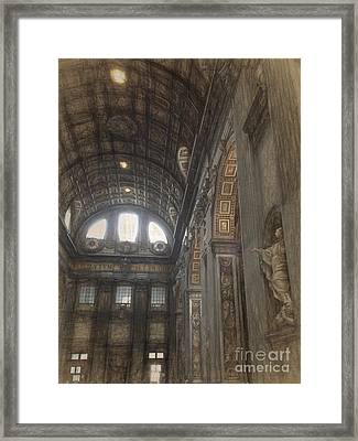 St Peters Basilia Interior Framed Print by HD Connelly