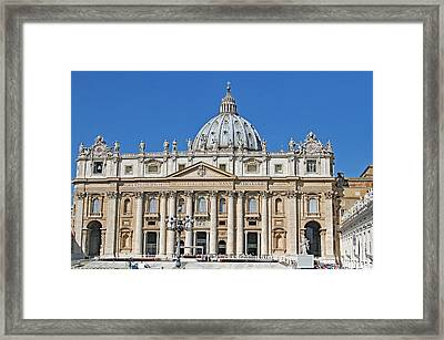 St. Peters Basilica Framed Print by Allan Levin