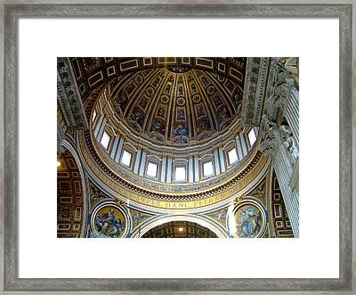 St. Peters Basilica Dome Framed Print