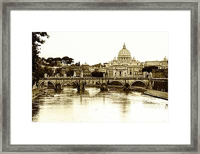 Framed Print featuring the photograph St. Peters Basilica by Mircea Costina Photography