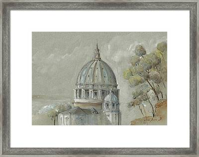 St Peter's Basilica Rome Framed Print by Juan Bosco