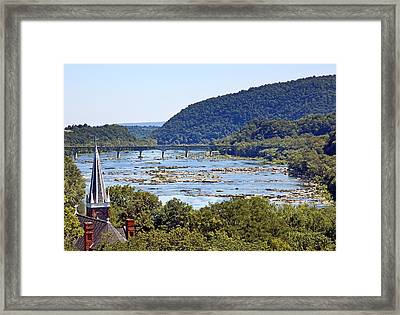 St. Peters Catholic Church In Harpers Ferry West Virginia Framed Print by Brendan Reals