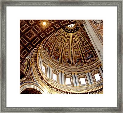 St Peters Looking Up Framed Print by Martin Sugg