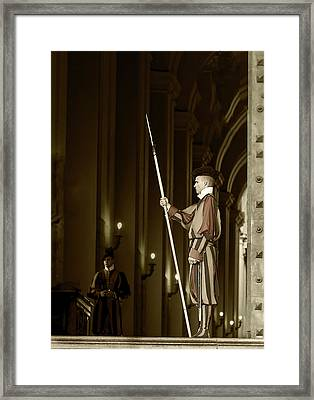 Framed Print featuring the photograph St Peters Square by John Hix