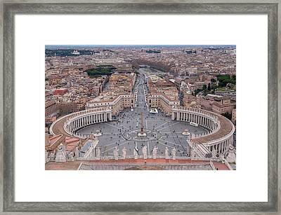 St. Peter's Square Framed Print