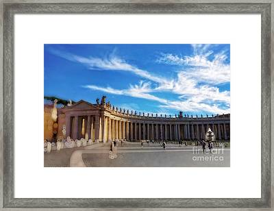 St Peters Square, Vatican City Framed Print