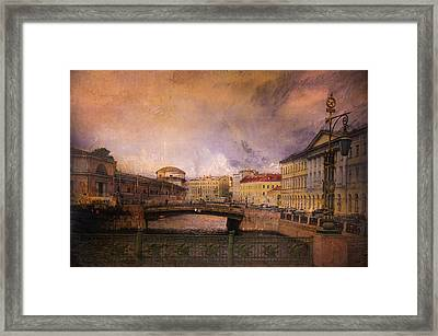 Framed Print featuring the photograph St Petersburg Canal by Jeff Burgess
