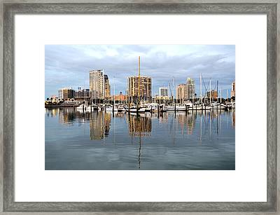 St Petersburg Marina Framed Print