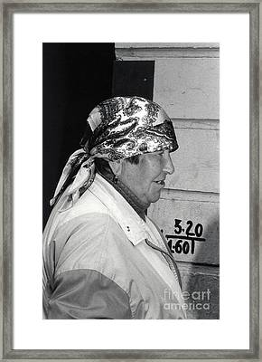 St. Petersburg Woman Framed Print by Andrea Simon