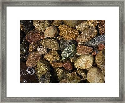 Pete's River Rocks Framed Print