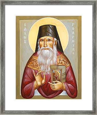 St Porphyrios Of Kavsokalyvia Framed Print by Julia Bridget Hayes