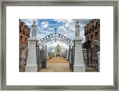 St. Roch's Cemetery In New Orleans, Louisiana Framed Print by Bonnie Barry