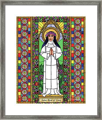 St. Rose Of Lima Framed Print