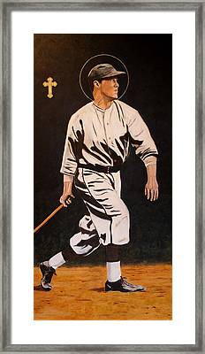 St. Sebastian Patron Of Athletes Framed Print by Ralph LeCompte