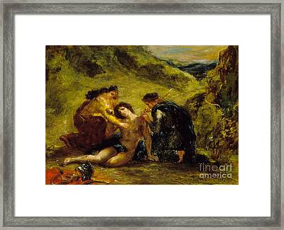 St. Sebastian With St. Irene And Attendant Framed Print