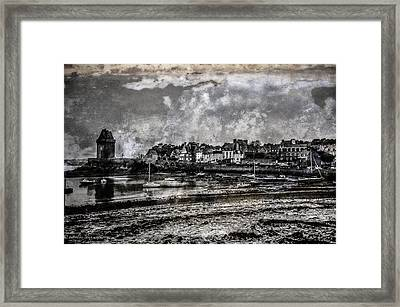 Framed Print featuring the photograph St Servan's Beach by Karo Evans