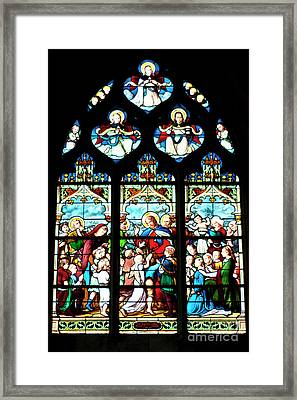 St. Severin Chuch Stain Glass Framed Print