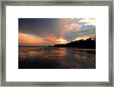 St Simons Island Framed Print