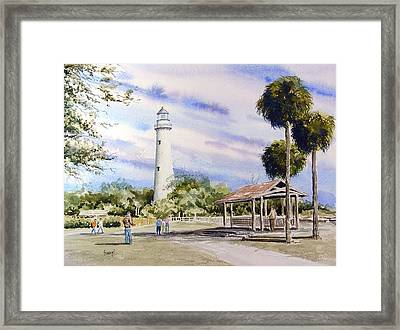 St. Simons Island Lighthouse Framed Print