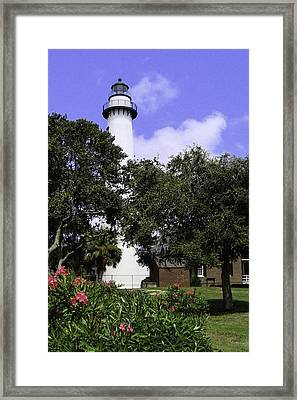 St Simons Isle Lighthouse Framed Print