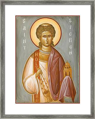 St Stephen II Framed Print by Julia Bridget Hayes