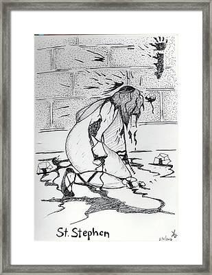 St Stephen Framed Print by Loretta Nash