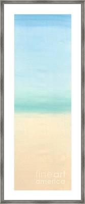 St Thomas #1 Seascape Landscape Original Fine Art Acrylic On Canvas Framed Print