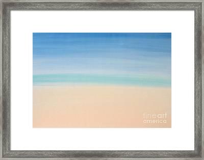 St Thomas #2 Seascape Landscape Original Fine Art Acrylic On Canvas Framed Print