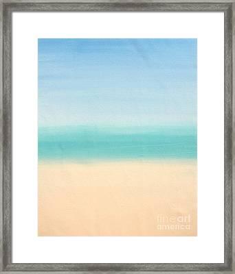 St Thomas #3 Seascape Landscape Original Fine Art Acrylic On Canvas Framed Print