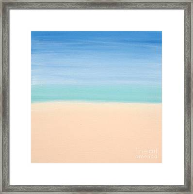 St Thomas #4 Seascape Landscape Original Fine Art Acrylic On Canvas Framed Print