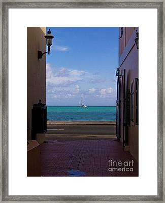 St. Thomas Alley 1 Framed Print by Tim Mulina