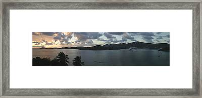 St. Thomas At Dusk Framed Print by Gary Lobdell