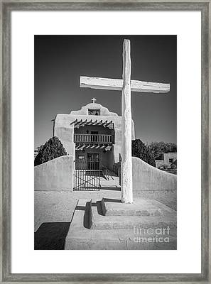 St Thomas Church In Abiquiu Framed Print