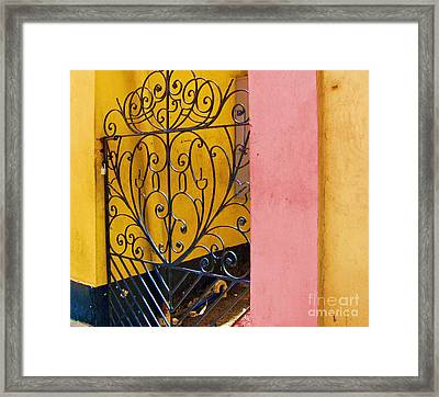 St. Thomas Gate Framed Print by Debbi Granruth