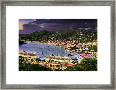 St Thomas Nights Framed Print