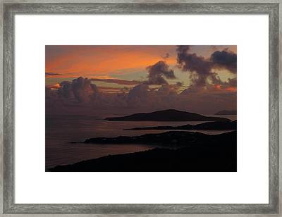 Framed Print featuring the photograph St Thomas Sunset At The U.s. Virgin Islands by Jetson Nguyen