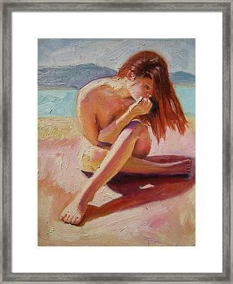 St. Tropez Beauty Framed Print by Pixie Glore