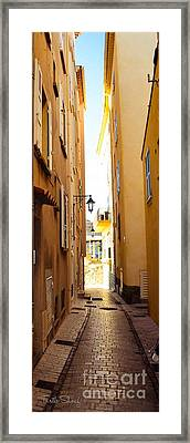St. Tropez - Narrow Streets  Framed Print by Turtle Shoaf
