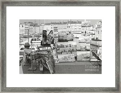 St. Tropez Paintings Framed Print by Andrea Simon