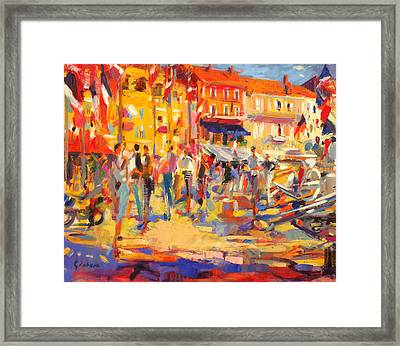 St Tropez Promenade Framed Print by Peter Graham