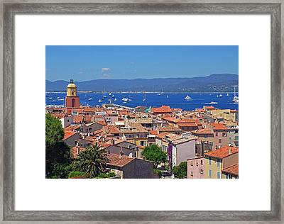 St-tropez Skyline Framed Print