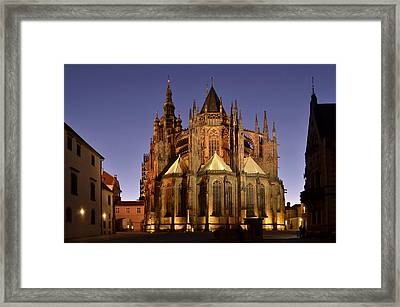 St Vitus Cathedral Prague Framed Print by Marek Stepan