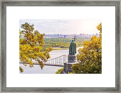 St Vladimir, Monument In Kiev Framed Print