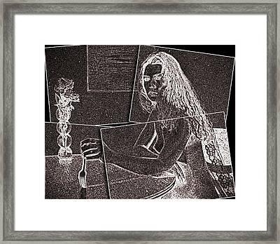 Stabbed By Love Framed Print