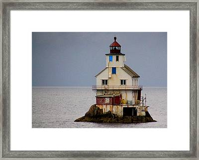 Stabben Lighthouse - It's Really A House Framed Print